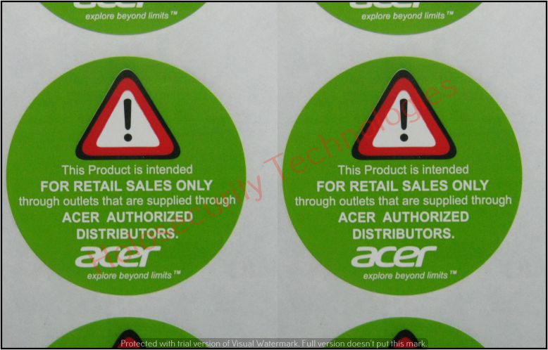 Printed Self Adhesive Label