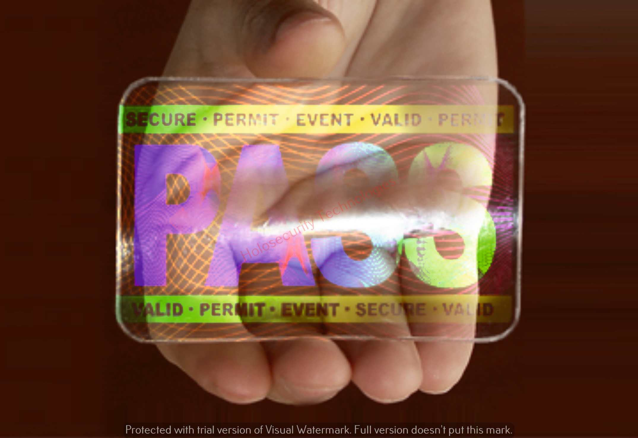Holographic ID Overlay, Holographic ID Card and Id